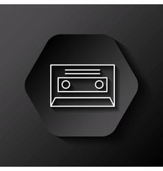 retro casette icon vector image