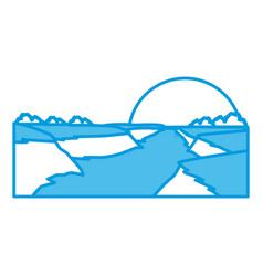 beautiful river landscape vector image