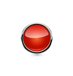 button isolated vector image