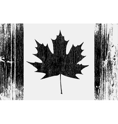 Canadian Flag On A Wood vector image