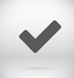 Flat Tick Sign OK Symbol Background vector image