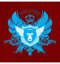 heraldry with bear head vector image