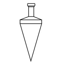 plumb icon vector image
