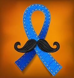 Prostate cancer blue vector image