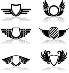 shields symbols vector image vector image