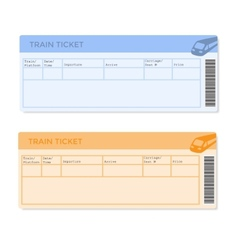 Train Tickets in Two Versions vector image vector image