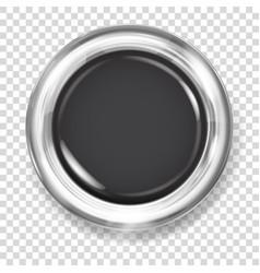 black plastic button vector image