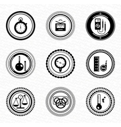Black retro labels and badges business statistic vector image vector image