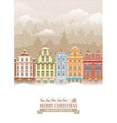 Christmas city vector image