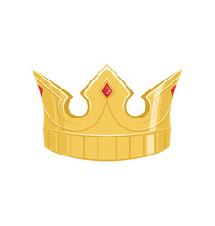 golden ancient crown with precious stones classic vector image