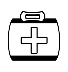 outline kit first aid cross emergency medical vector image vector image