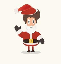 Santa claus funny cartoon vector