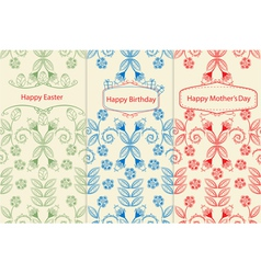 Variants of greeting cards vector image vector image