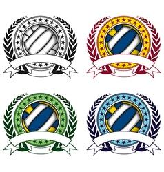 volleyball emblem 4 vector image