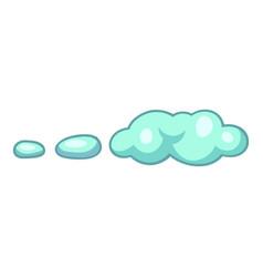 wind cloud icon cartoon style vector image
