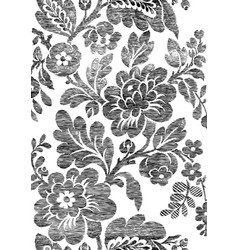 1 Abstract hand-drawn floral seamless pattern vector image
