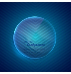 Abstract blue background with glass transparent vector