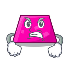 Angry trapezoid mascot cartoon style vector