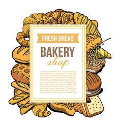bakery shop hand drawn concept vector image
