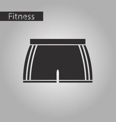 Black and white style icon athletic shorts vector
