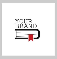 book logo icon symbol design template vector image