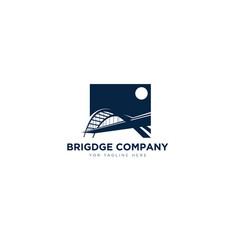 Bridge company logo designs for contractor vector