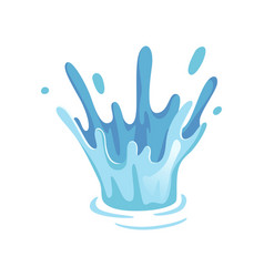 bright splash of water on a vector image