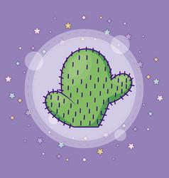 Cactus plant icon vector