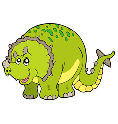 Cartoon triceratops vector