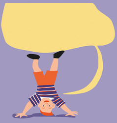 Child playing doing somersaults vector