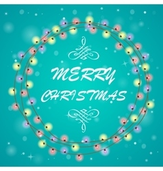circle christmas background vector image