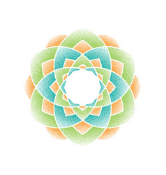 color dots mandala vector image