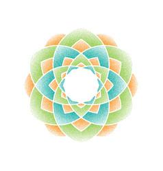 color dots mandala vector image