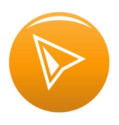 Cursor modern icon orange vector