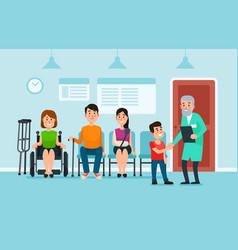 doctor waiting room patients wait doctors vector image