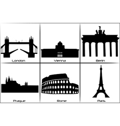 European landmarks vector