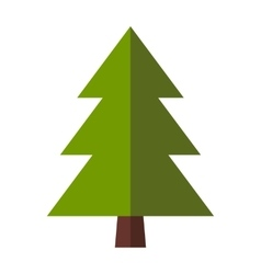 Fir-tree flat icon vector