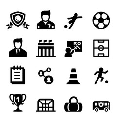 football soccer club icon set vector image
