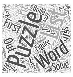 Glossary mind boggling puzzles word cloud concept vector