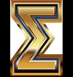 Golden Font Symbol vector