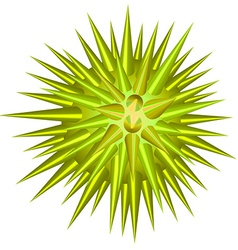 Green ball with thorns vector