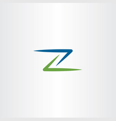 green blue z logo icon element symbol vector image