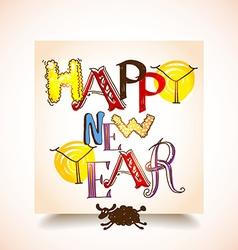 Happy new years graffiti vector