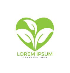 healthy lifestyle logo design vector image