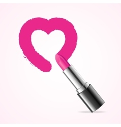Heart with Pink Lipstick vector image