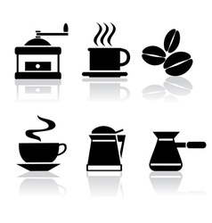 icons coffee vector image