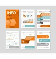 Infographic business brochures banners vector