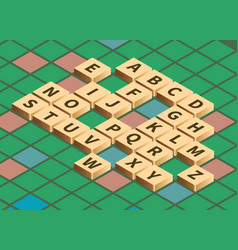 Isometric word puzzling game vector