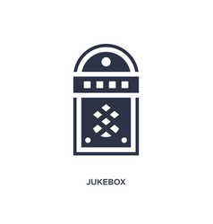 Jukebox icon on white background simple element vector