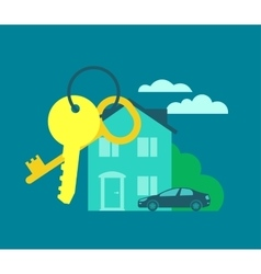 Keys from the house Buying real estate vector